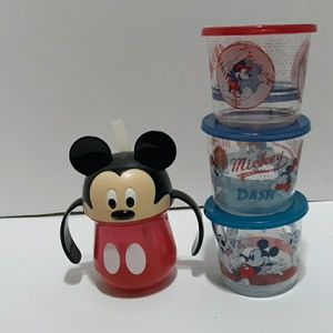 Mickey Mouse To Go Containers and a Sippy Cup